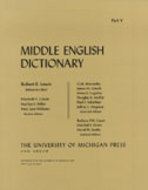 Book cover for 'Middle English Dictionary'