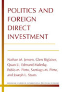 Book cover for 'Politics and Foreign Direct Investment'