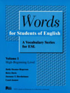 Book cover for 'Words for Students of English, Vol. 1'