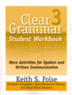 Book cover for 'Clear Grammar 3 Student Workbook'