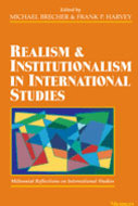 Book cover for 'Realism and Institutionalism in International Studies'