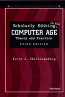 Cover image for 'Scholarly Editing in the Computer Age'