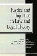 Book cover for 'Justice and Injustice in Law and Legal Theory'