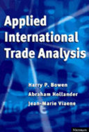 Cover image for 'Applied International Trade Analysis'