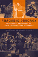 Book cover for 'Performing Democracy'
