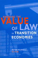 Book cover for 'Assessing the Value of Law in Transition Economies'