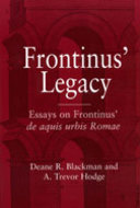 Cover image for 'Frontinus' Legacy'