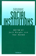 Book cover for 'Explaining Social Institutions'