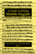 Book cover for 'A Guide to Editing Middle English'