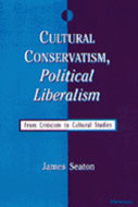 Book cover for 'Cultural Conservatism, Political Liberalism'