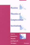 Cover image for 'Positive Theories of Congressional Institutions'