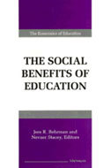 Book cover for 'The Social Benefits of Education'