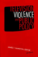 Book cover for 'Television Violence and Public Policy'