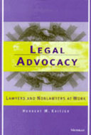 Book cover for 'Legal Advocacy'