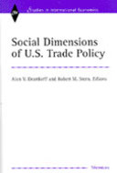 Book cover for 'Social Dimensions of U.S. Trade Policies'