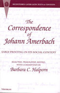 Cover image for 'The Correspondence of Johann Amerbach'
