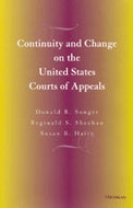 Book cover for 'Continuity and Change on the United States Courts of Appeals'