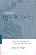 Book cover for 'Defusing Democracy'