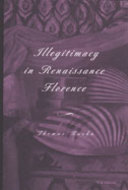 Book cover for 'Illegitimacy in Renaissance Florence'