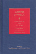 Book cover for 'Greek Syntax'