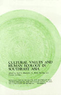 Book cover for 'Cultural Values and Human Ecology in Southeast Asia'