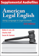 Book cover for 'American Legal English, 2nd Edition, Supplemental Audiofiles'
