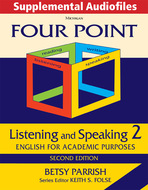 Product cover for 'Four Point Listening and Speaking 2, Second Ed., Supplemental Audiofiles: Audio Download'