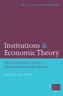 Book cover for 'Institutions and Economic Theory'