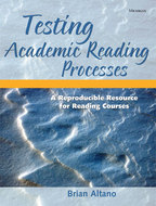 Book cover for 'Testing Academic Reading Processes'