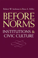 Book cover for 'Before Norms'