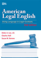 Book cover for 'American Legal English, 2nd Edition'