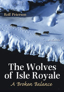 Book cover for 'The Wolves of Isle Royale'