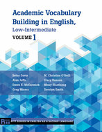 Book cover for 'Academic Vocabulary Building in English, Low-Intermediate'