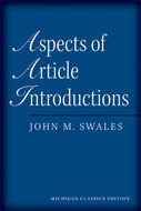 Cover image for 'Aspects of Article Introductions, Michigan Classics Ed.'