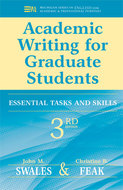 Book cover for 'Academic Writing for Graduate Students, 3rd Edition'