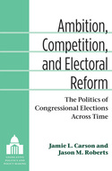 Book cover for 'Ambition, Competition, and Electoral Reform'