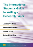 Book cover for 'The International Student's Guide to Writing a Research Paper'