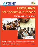Book cover for '4 Point Listening for Academic Purposes (with Audio CD)'
