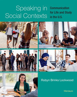 Book cover for 'Speaking in Social Contexts'
