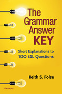 Book cover for 'The Grammar Answer Key'