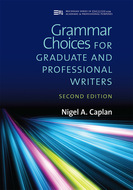 Book cover for 'Grammar Choices for Graduate and Professional Writers, Second Edition'