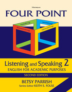 Product cover for 'Four Point Listening and Speaking 2, Second Edition (No Audio): English for Academic Purposes'