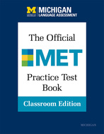Cover image for 'The Official MET Practice Test Book, Classroom Edition'