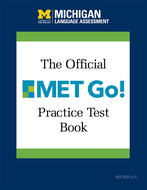 Product cover for 'The Official MET Go! Practice Test Book'