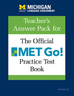 Product cover for 'Teacher's Answer Pack for The Official MET Go! Practice Test Book'