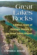 Book cover for 'Great Lakes Rocks'
