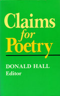Book cover for 'Claims for Poetry'