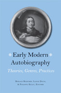 Book cover for 'Early Modern Autobiography'