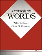 Book cover for 'A Course on Words'