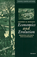 Book cover for 'Economics and Evolution'